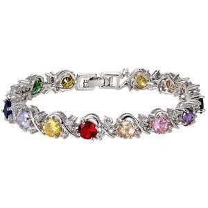 Multi coloured cz bracelet